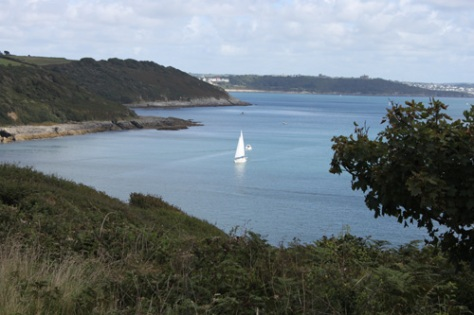Saling at Maenporth