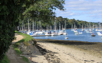 Sailing boats at Mylor Harbour