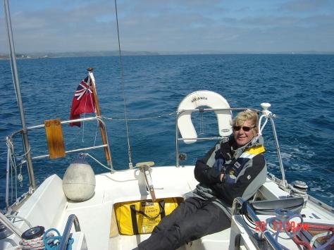 John on his boat